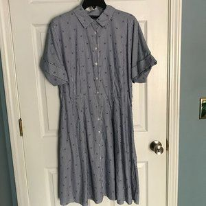 Brooks Brothers Preppy Shirt Dress Tennis